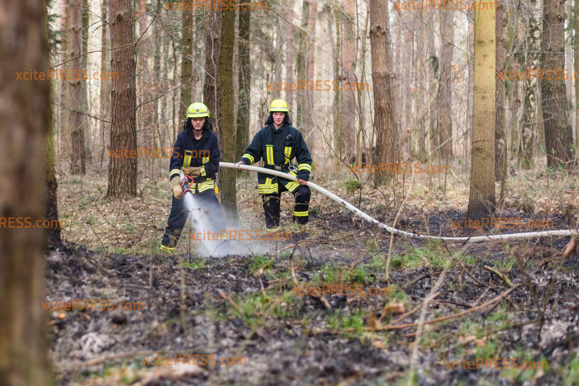 Waldbrände in Kamenzer Forst: Feuerwehr kann die Flammen schnell löschen