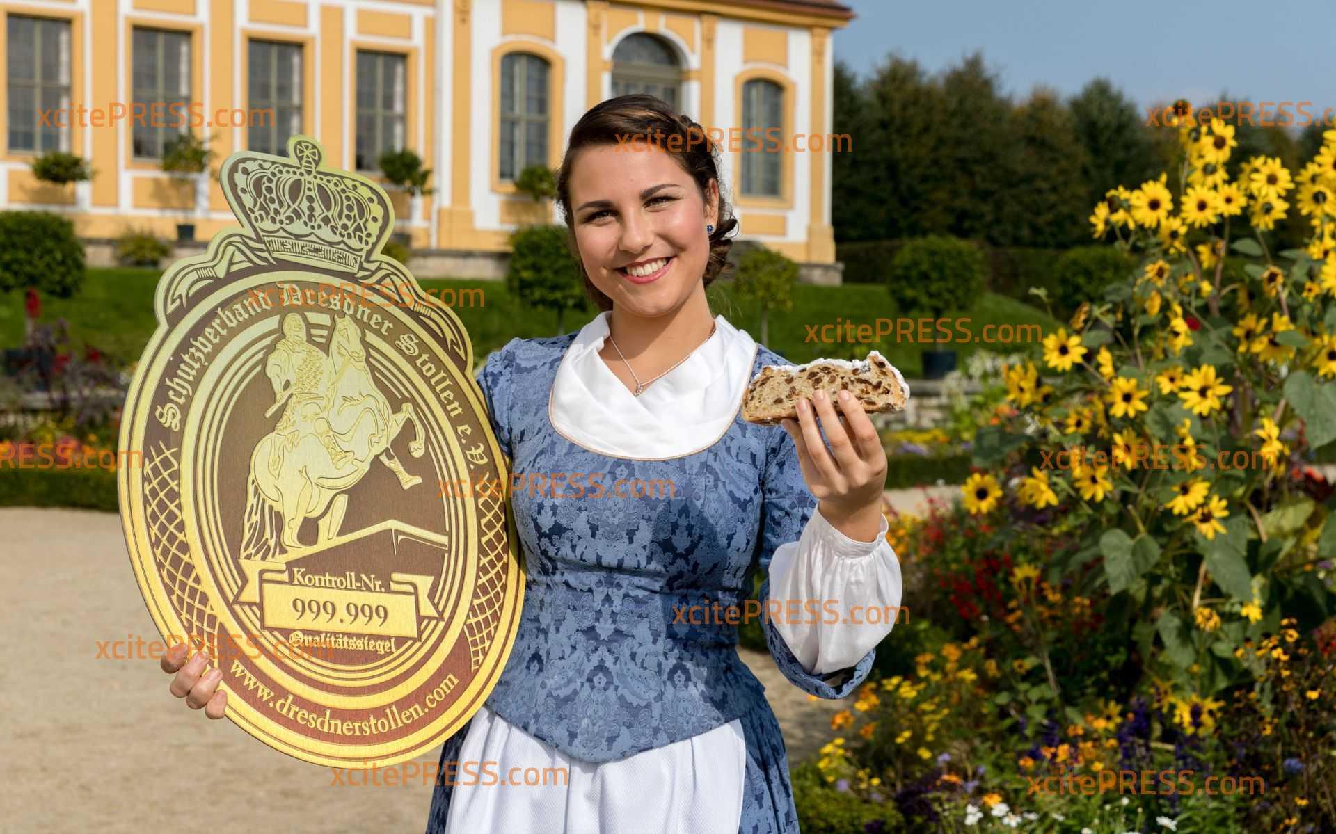 Neue Botschafterin für Dresdner Christstollen: Hanna Haubold (20) ist das 23. Dresdner Stollenmädchen