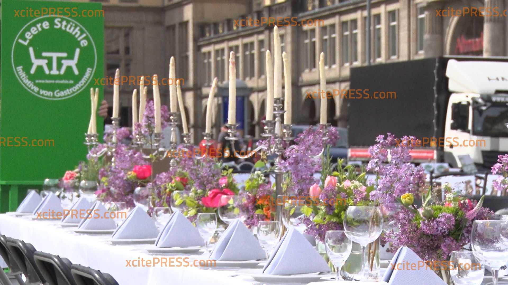 """Protest der Gastronomen wegen Corona-Krise geht weiter: Aktion """"Leere Stühle"""" nun deutschlandweit"""