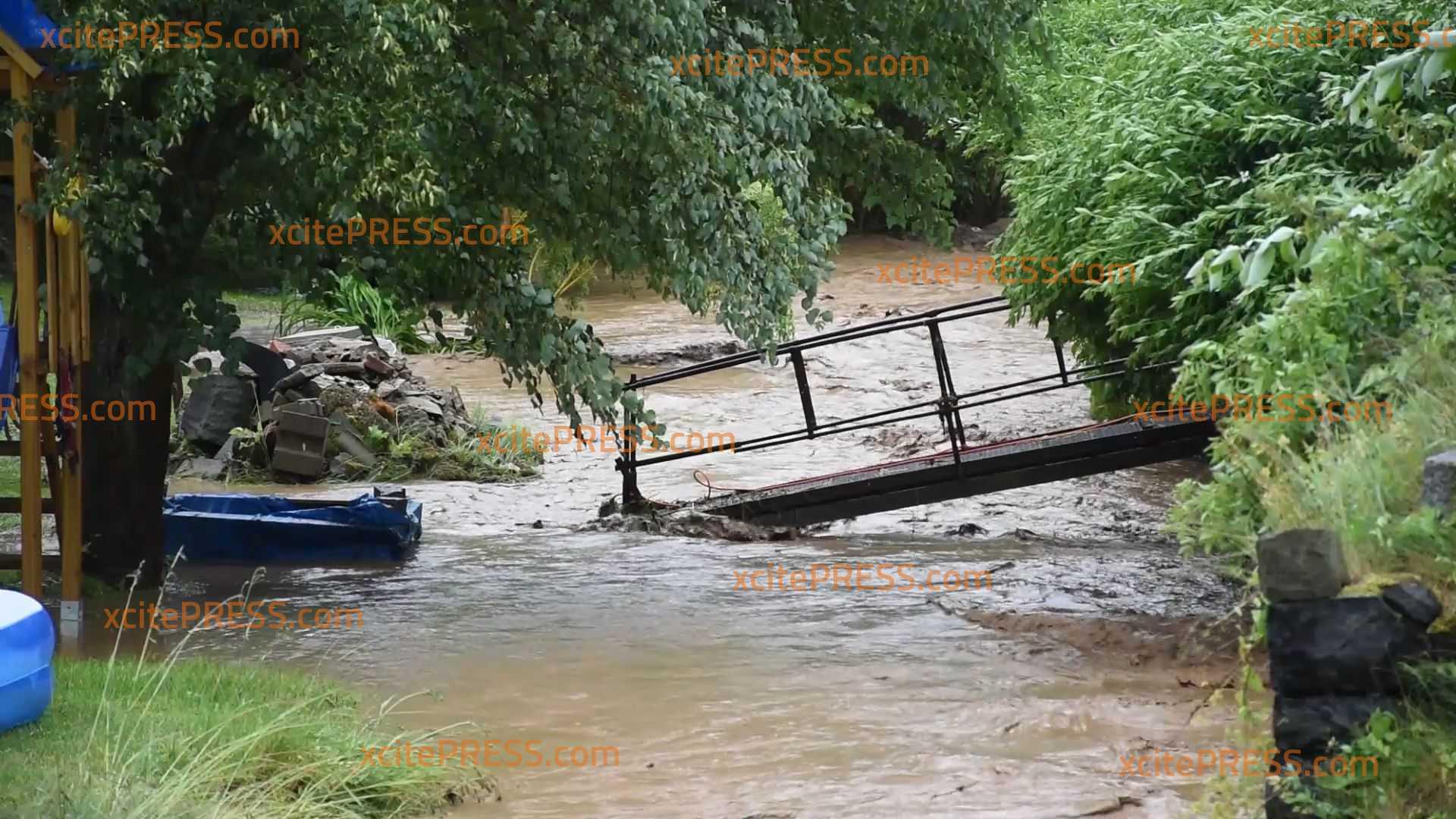 Unwetter im Zittauer Gebirge: Überschwemmungen und umgestürzte Bäume
