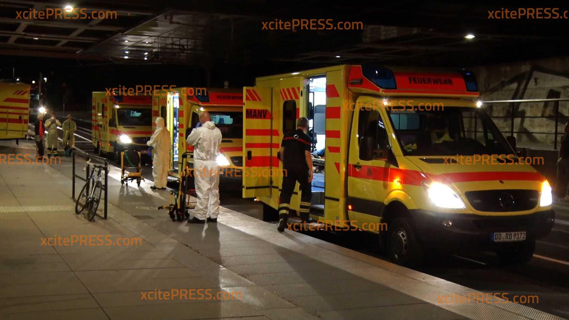 Pfadfindergruppe klagt über Übelkeit: 12 Personen ins Krankenhaus gebracht: Großeinsatz am Strehlener S-Bahnhof